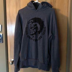 Diesel Industry Brave Blue Sweatshirt Hoodie SzXXL